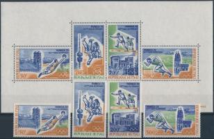 1972 Müncheni nyári olimpia sor Mi 316-319 + blokk Mi 6