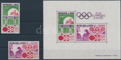1972 Téli olimpia, Sapporo sor Mi 316-317 + blokk Mi 7