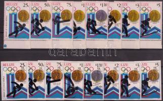 1980 Téli olimpia érmesei fogazott és vágott sor Mi 501-508 A-B