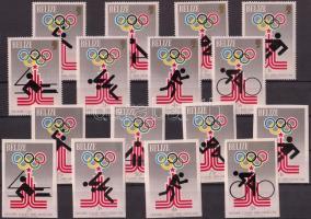 1979 Nyári olimpia fogazott és vágott sor Mi 432-439 A-B + blokksor 10-11