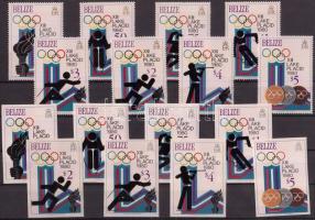1979 Téli olimpia fogazott és vágott sor Mi 443-450 A-B + blokksor 12-13