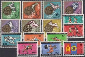 1972 Téli és nyári olimpia sorok Mi 702-709, 748-754 + blokkok Mi 26, 29, 31