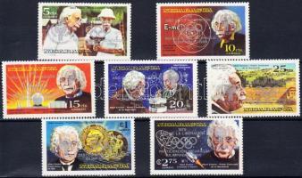 1980 Nicaragua részt vesz az olimpián; Einstein sor ezüst felülnyomással Mi 2091-2097 b