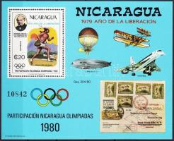 1980 Nicaragua részt vesz az olimpián; Rowland Hill blokk Mi 111