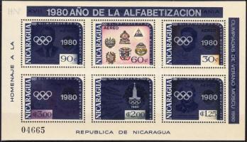 1980 Nyári olimpia blokk Mi 125