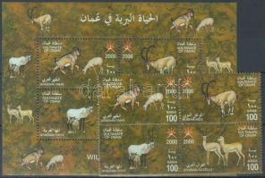 2000 Őshonos patás állatok négyestömb Mi 488-491 + blokk Mi 20