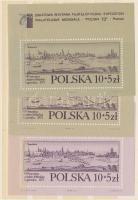 1973 Bélyegkiállítás POLSKA 73 blokksor Mi 55-56 + pecsételt blokk 55