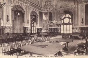 Monte-Carlo, room of the empire games / interior view