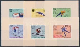 1975 Téli olimpia, Innsbruck sor vágott blokkformában Mi 767-772