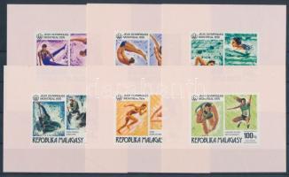 1976 Montreali nyári olimpia sor vágott blokkformában Mi 775-780