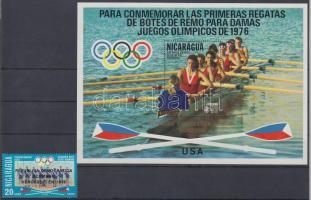 1976 Montreali nyári olimpia felülnyomással Mi 1959 + blokk Mi 95