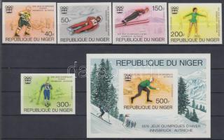 1976 Téli olimpia, Innsbruck vágott sor Mi 506-510 + vágott blokk Mi 12