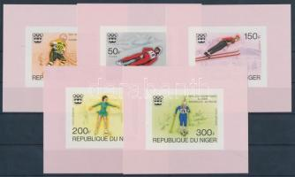 1976 Téli olimpia, Innsbruck sor vágott blokkformában Mi 506-510
