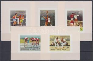1976 Montreali nyári olimpia sor vágott blokkformában Mi 531-535