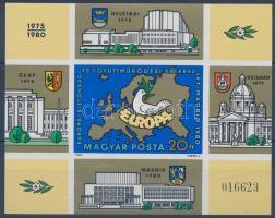 1980 Európai Értekezlet Madrid vágott blokk (6.000)