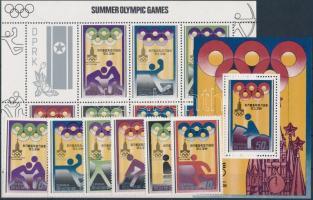 1979 Nyári olimpia, Moszkva sor Mi 1890-1895 + kisív Mi 1890-1896 + blokk Mi 62