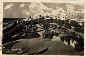 5 db izraeli városképes lap a 40-es és 50-es évekből: Tel Aviv, Jerusalem / 5 modern postcards from Israel