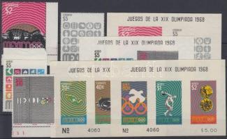 1968 Olimpia Mexikóváros Mi 1286-1287 + 1290-1291 + blokk Mi 15-18
