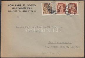 1945 (1. díjszabás) Helyi levél Hadvezérek 10f + 2x 20f bérmentesítéssel