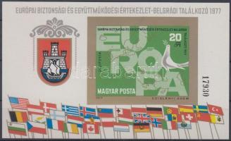 1977 Európai Biztonsági és Együttműködési Értekezlet (IV) vágott blokk (5.000)