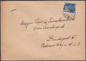 1945 (1. díjszabás) Helyi levél Hadvezérek 50f bérmentesítéssel