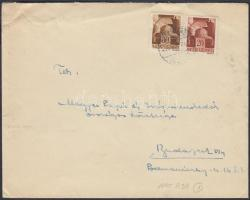 1945 (1. díjszabás) Távolsági levél Hadvezérek 20f + 80f bérmentesítéssel