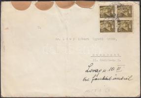 1945 (1. díjszabás) Helyi levél 250g-ig 4x Nagyasszonyok 20f bélyegekkel alulbérmentesítve