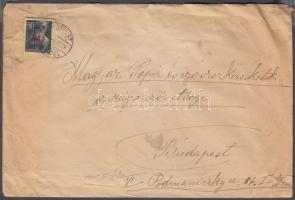 1945 (1. díjszabás) Helyi levél Kisegítő (Nagyasszonyok) 50f/50f bérmentesítéssel
