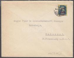 1945 (1. díjszabás) Helyi levél Kisegítő (Hadvezérek) 50f/50f bérmentesítéssel