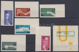 1961 Nemzetközi sportjátékok ívsarki sor Mi 1237-1242 + blokk Mi 8