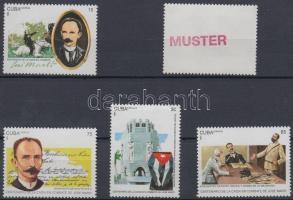 1995 José Martí sor Mi 3817-3821 MINTA
