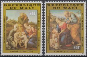 1983 Karácsony: Raffaello festmények sor Mi 981-982