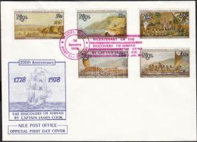1978 James Cook sor FDC-n Mi 193-197