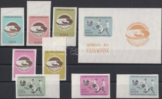 1962 Labdarúgó VB. vágott sor Mi 1072-1079 + vágott blokk 25