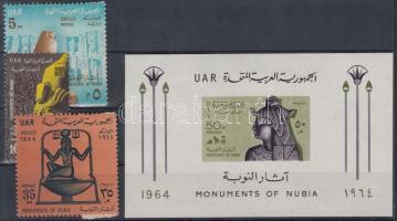 1964 ENSZ napja sor Mi 244-246 + blokk Mi 8