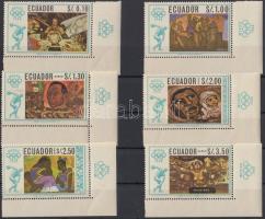1967 Nyári olimpia, Mexikó ívsarki sor Mi 1313-1318 + blokksor 35-36