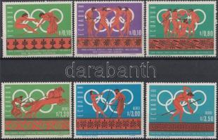 1966 Nyári olimpia, Mexikó sor Mi 1262-1267 + fogazott és vágott blokksor 26-27 A+B