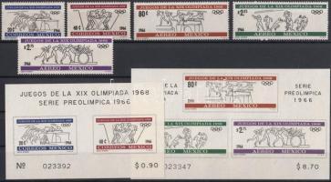1966 Nyári olimpia, Mexikó sor Mi 1214-1218 + blokksor 5-6
