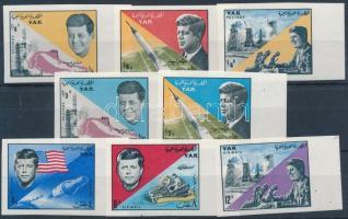 John F. Kennedy margin imperforated set, John F. Kennedy ívszéli vágott sor