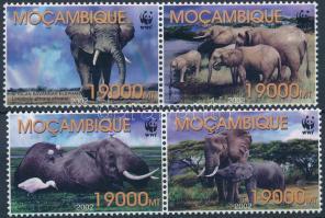 2002 WWF: Elefánt 2 pár + kisív + teljes ív Mi 2393-2396