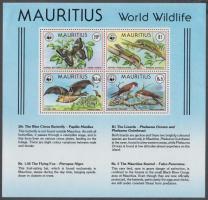 1978 WWF: Veszélyeztetett állatok blokk Mi 8
