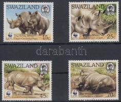 1987 WWF: Szélesszájú orrszarvú sor Mi 528-531 + 4 CM