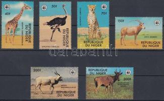 1978 WWF: Veszélyeztetett állatok sor Mi 633-638