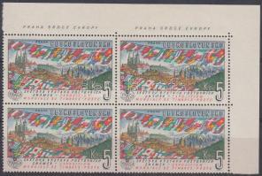 1961 Nemzetközi bélyegkiállítás ívsarki négyestömb Mi 1314