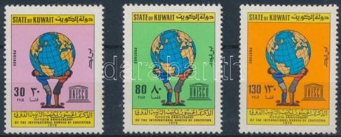 1979 50 éves a nemzetközi nevelésügyi szervezet sor Mi 838-840