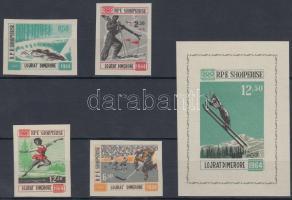 1963 Téli olimpia sor Mi 798-801 + blokk Mi 21