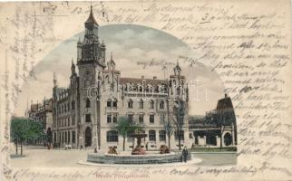 Esslingen am Neckar, new post office, fountain