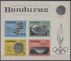 1964 Tokiói nyári olimpia vágott blokk Mi 6 B
