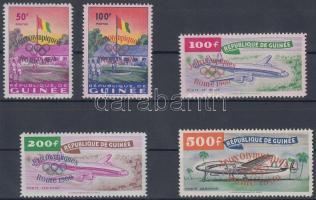 1960 Római nyári olimpia sor felülnyomással Mi 49-53