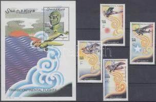 2001 Transzkontinentális repülések sor + blokk Mi 906-909 + Mi 82